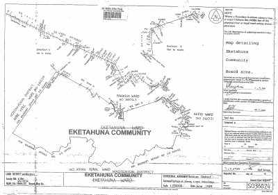 Map detailing Eketahuna Community Board area